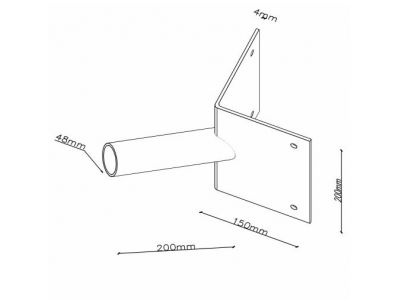 DEX Corner Mount Streetlight Bracket