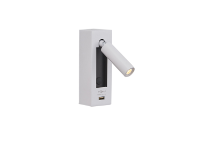 WINSLOW 1W Surface Mount Wall Light with USB Port